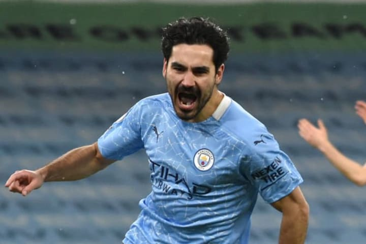 Ilkay Gundogan continued his fine goalscoring form