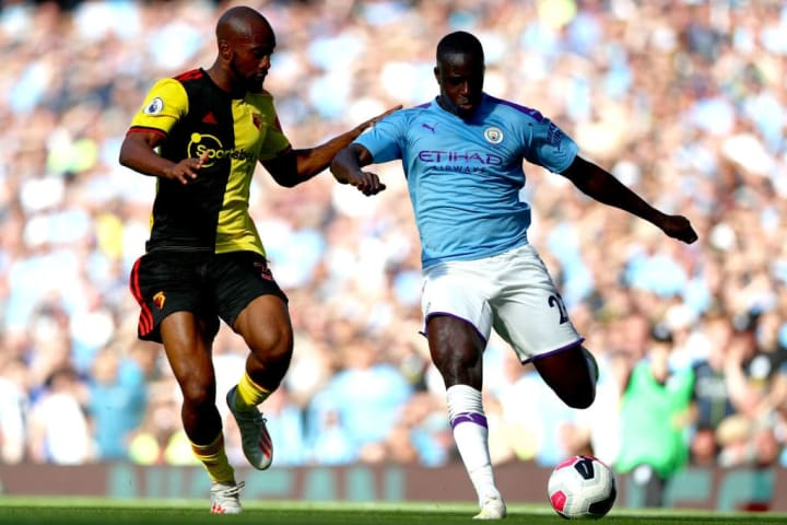 Dimitri Foulquier against Benjamin Mendy