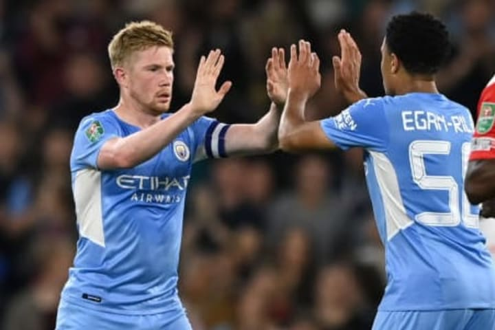 Kevin De Bruyne captained a young Man City side