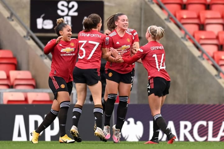 Kirsty Hanson levelled for United