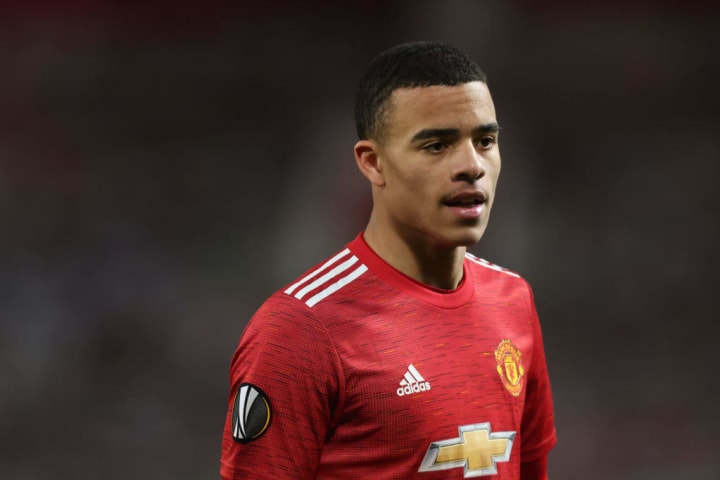 Mason Greenwood worked tirelessly but struggled to have an impact on the game for Manchester United