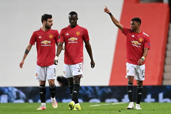 Amad Diallo, Bruno Fernandes, Eric Bailly