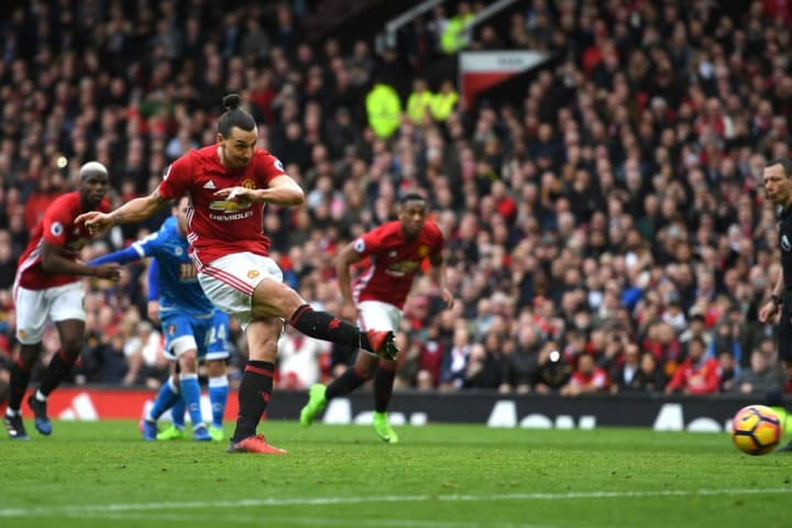 Unfortunately for Zlatan, this penalty didn't ripple the net