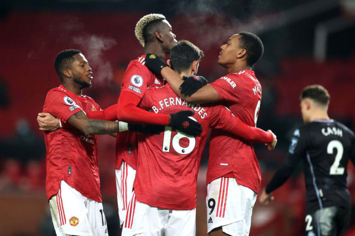 Bruno Fernandes, Fred, Paul Pogba, Anthony Martial