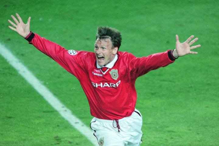 Teddy Sheringham's goal helped United on their way to Champions League success in 1999