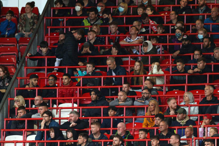 30,000 fans were able to watch the match at Old Trafford