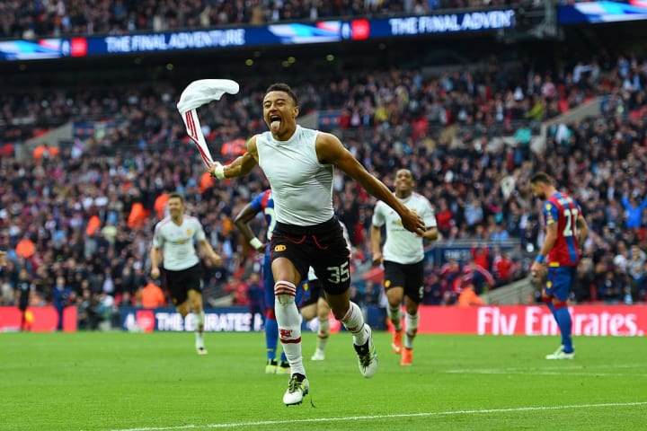 Lingard scored the winning goal in the 2016 FA Cup final