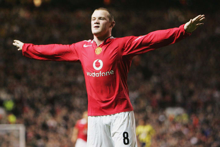 Wayne Rooney scored a hat-trick on his Man Utd debut in 2004