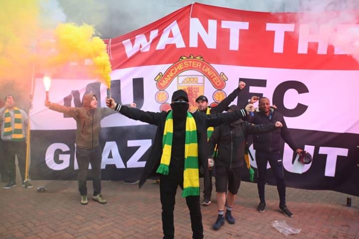 Fan protests saw Man Utd's last Premier League game postponed