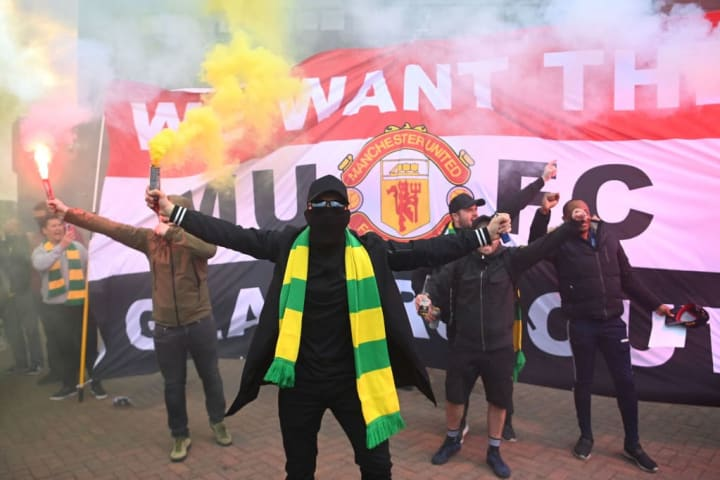 Fresh Man Utd fan protests against the Glazers were sparked by the European Super League scandal but date back to 2005