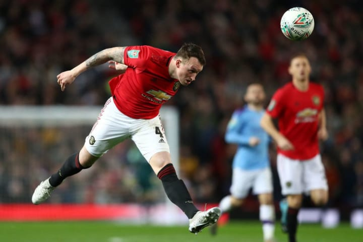 Phil Jones and Lindelof played in United's defeat at the hand of rivals City