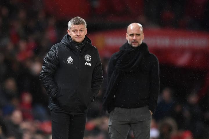 Ole Gunnar Solskjaer and Pep Guardiola