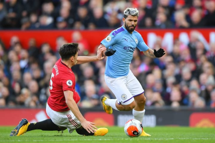 Aguero telah mencetak sembilan gol ke gawang Manchester United