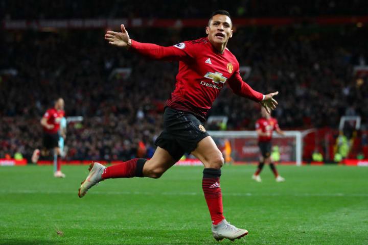 Alexis Sanchez scored one of his few Man Utd goals against Newcastle