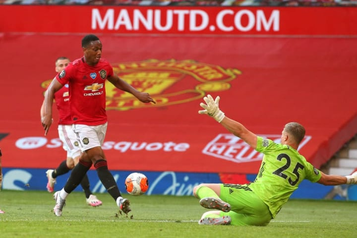Martial broke into Sheffield United's bottom line at the end of the minor season and scored his first hat-trick for the Red Devils.
