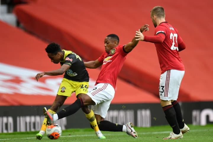 Kyle Walker-Peters, Anthony Martial, Luke Shaw