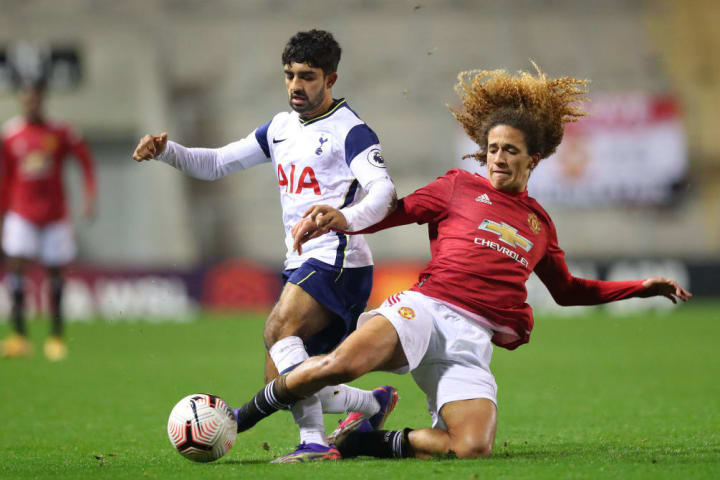 Hannibal puts in a tackle against Spurs