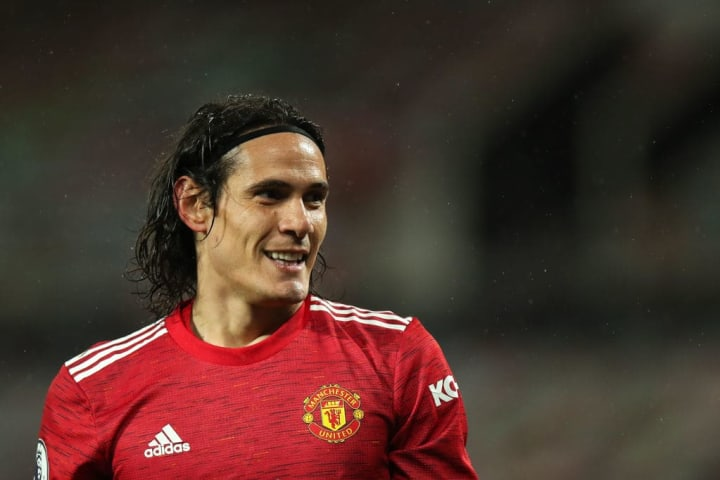 Cavani is yet to make a start for Manchester United