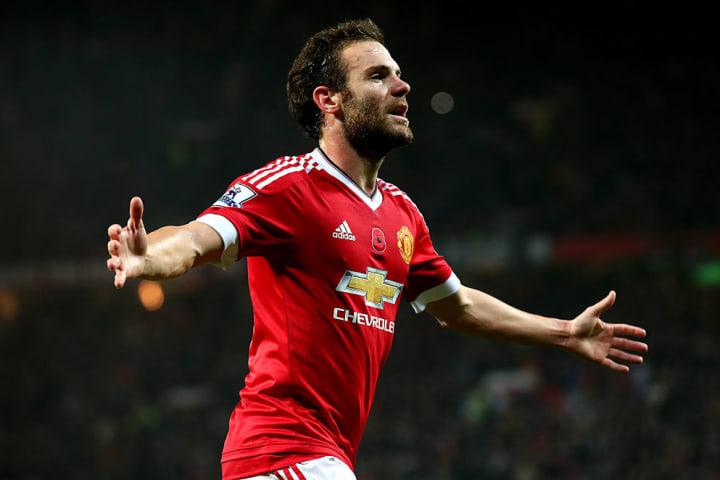 Juan Mata scored 10 goals three seasons in a row