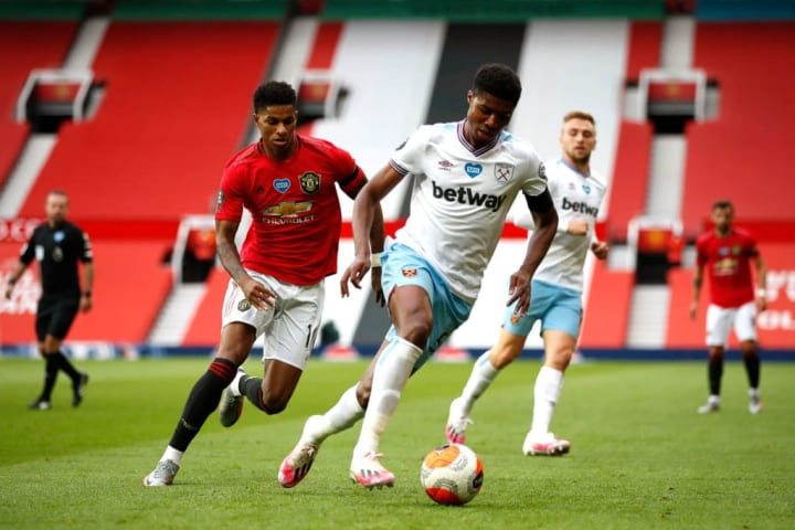 Johnson subdued Marcus Rashford when West Ham travelled to Manchester United in July 2020