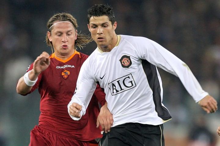 Manchester United's Portuguese midfielde...