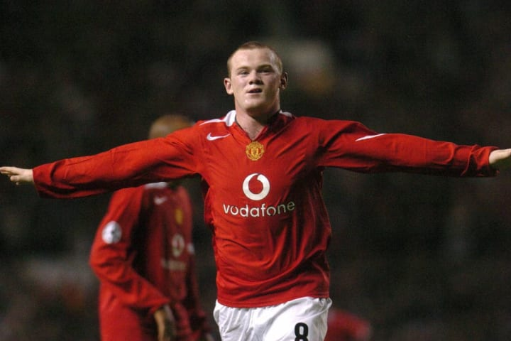 A baby faced Rooney netted a hat-trick on his Champions League bow
