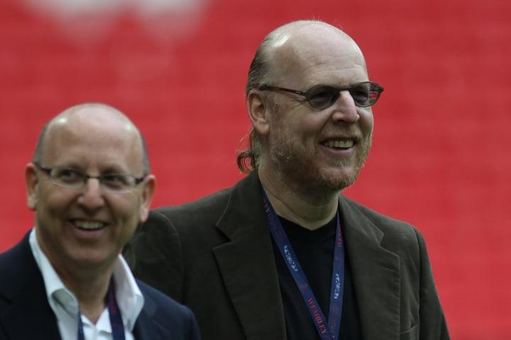 Manchester United's owners Joe Glazer (L