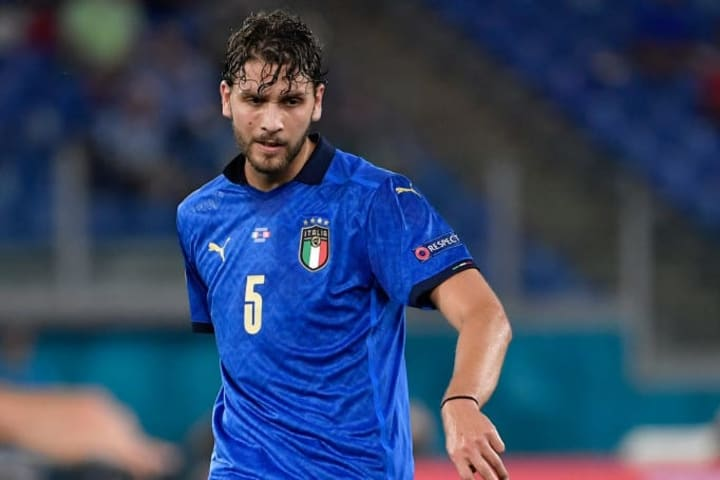 Manuel Locatelli of Italy in action during the Uefa Euro...