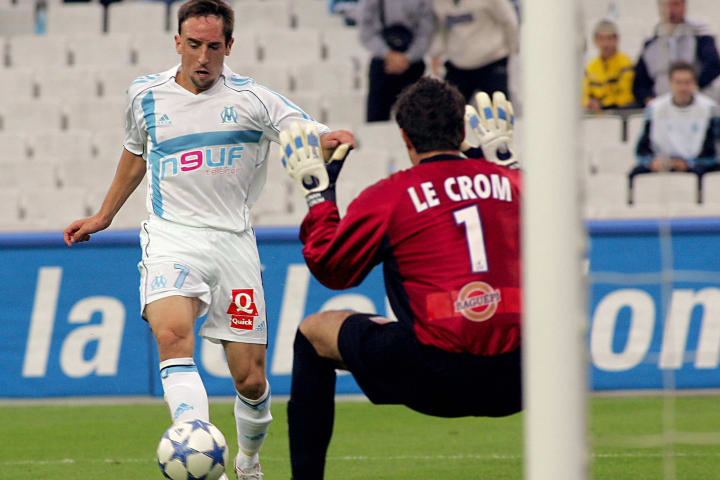 Marseille's French forward Franck Ribery