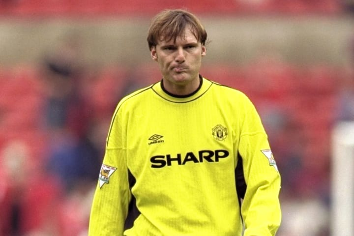 Massimo Taibi of Manchester United