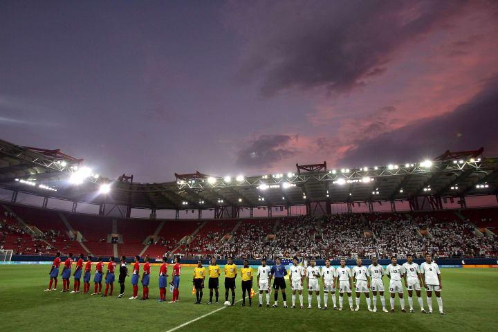 The game will be played at the Karaiskaki Stadium