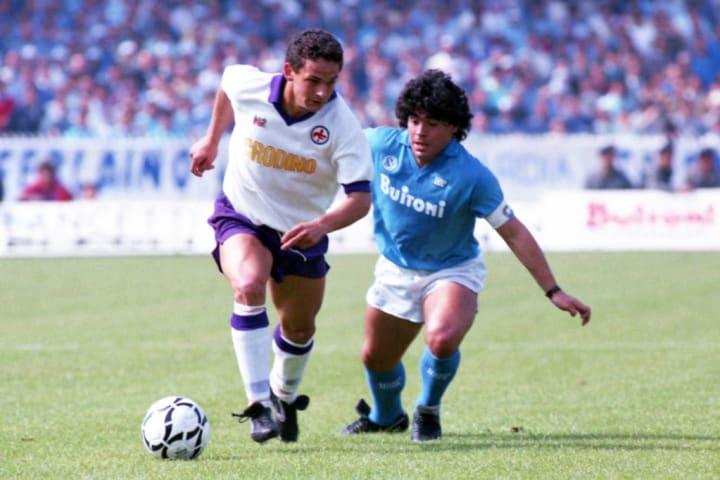 Baggio e Maradona