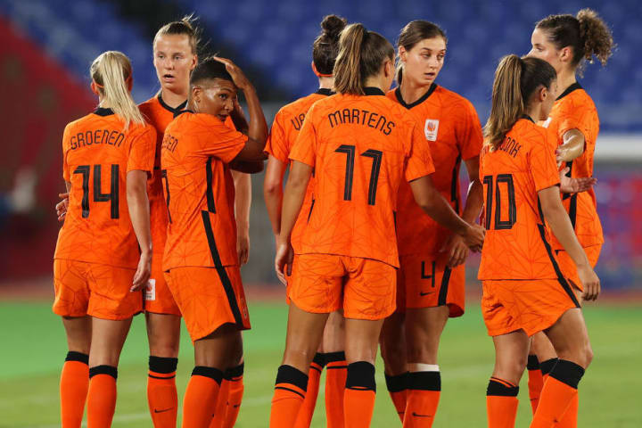 Netherlands scored 21 goals in three group games
