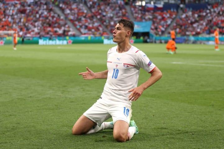 Patrik Schick República Tcheca Dinamarca Quartas Eurocopa