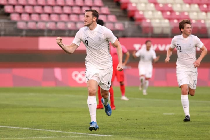 Chris Wood scored for New Zealand at his second Olympics