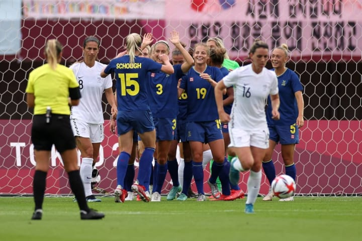 Sweden finished the group stage with maximum points