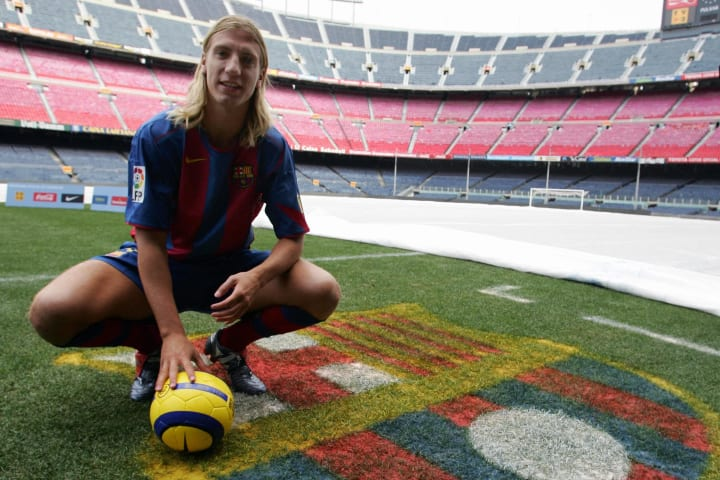 New player of the FC Barcelona Argentini
