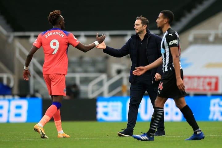 Frank Lampard appreciates his centre-forward's work