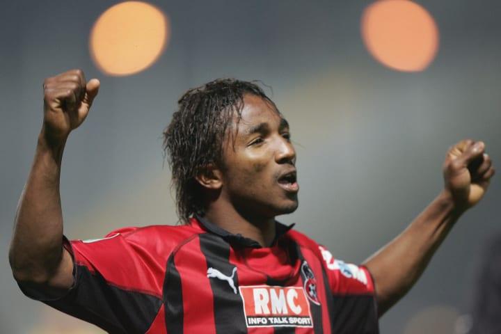 Nice's Ivorian forward Bakari Kone jubil