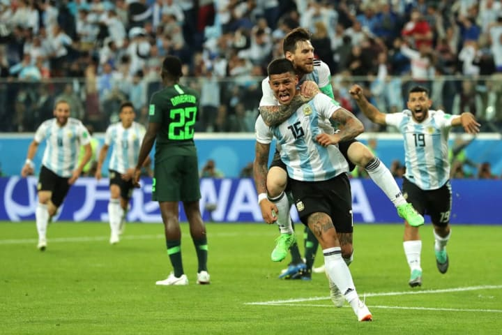 Lionel Messi, Marcos Rojo