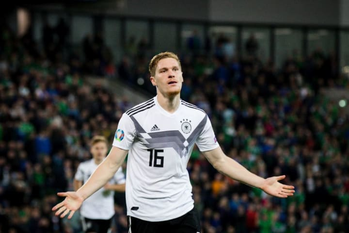 Marcel Halstenberg scored on his first competitive start for Germany