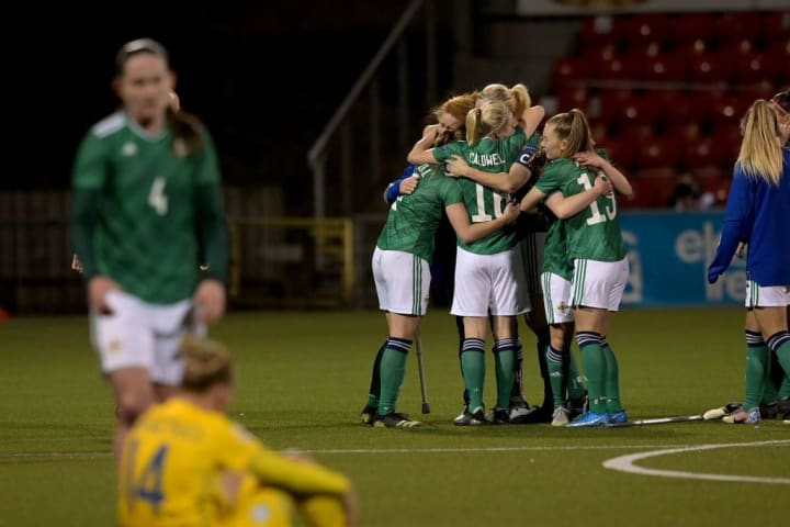 Northern Ireland have risen to 48th after qualifying for Euro 2022