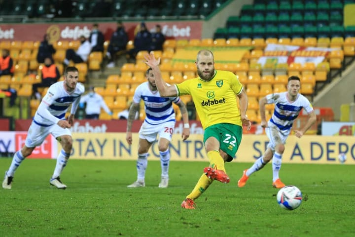 Pukki netting a penalty against QPR