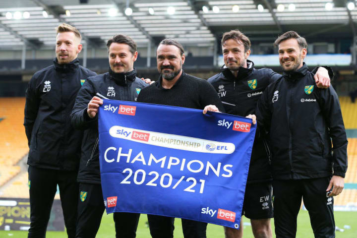 Daniel Farke has led Norwich back to the Premier League at the first time of asking