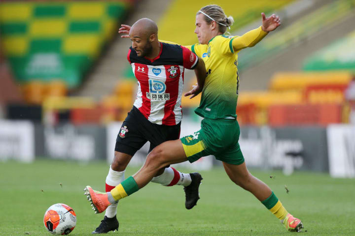 Cantwell challenges Southampton's Nathan Redmond