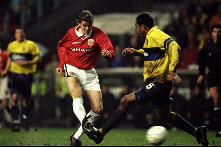 Ole Gunnar Solskjaer was on the scoresheet against Brondby in 1998