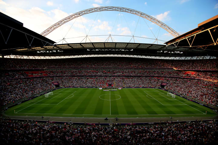 Wembley Stadium will welcome fans back soon