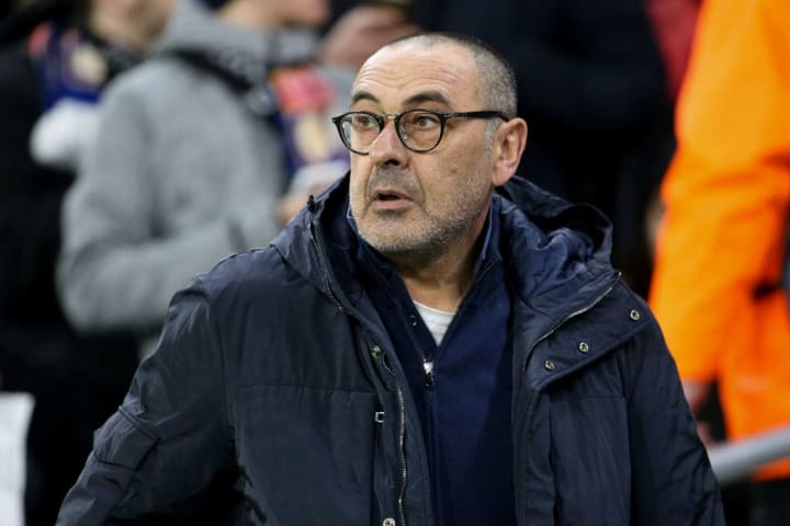 Maurizio Sarri has lost just three Serie A games all season with Juventus