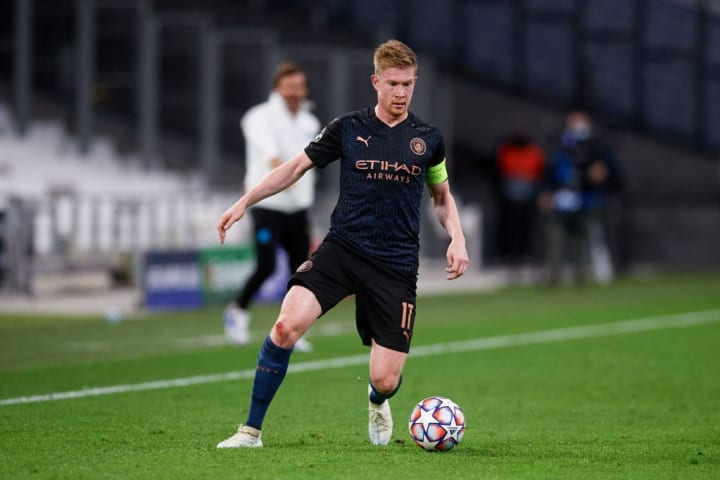 De Bruyne's City were in Champions League action in midweek