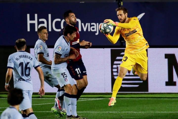 Oblak got the record as Atletico beat Osasuna 5-0